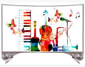 Model No.: 3297(Curved Music TV)